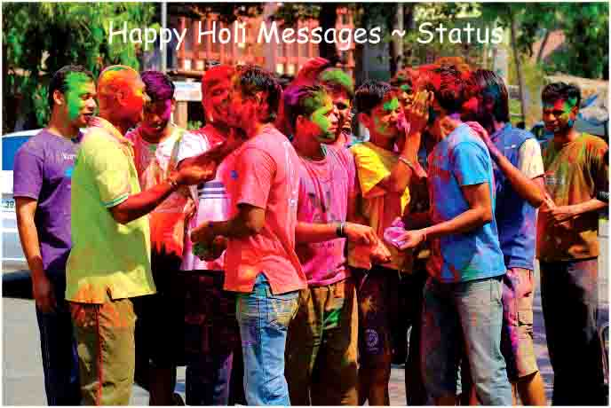 Happy Holi Messages ~ Status